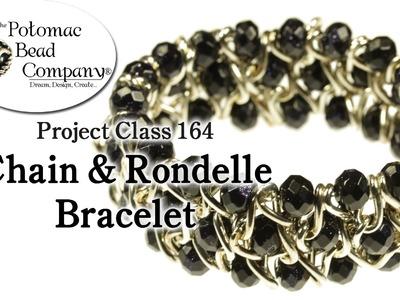 Chain & Rondelle Stretch Bracelet