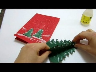 Christmas Cards Pop Up Card - How To Make a Pop Up Xmas Tree Card