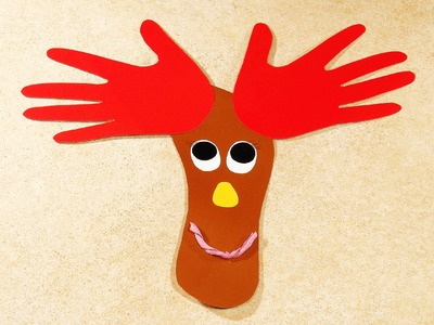 Christmas Crafts for Kids. A Reindeer.
