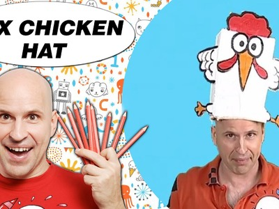 Crafts Ideas for Kids - Box Chicken Hat | DIY on BoxYourSelf