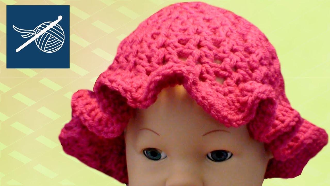 CROCHET BABY CAP CIPRESO WITH RUFFLE - Left Hand Crochet Geek