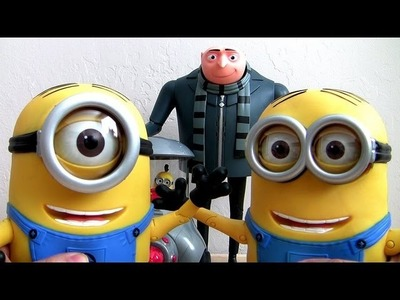 Despicable Me 2 Toys NEW FART Toy, Action Figure, Talking Minion Dave, Talking GRU & Stuart Car