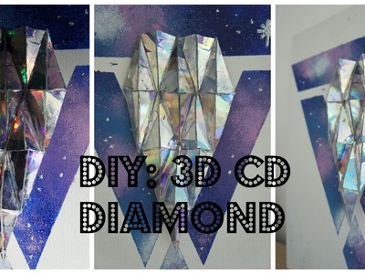 DIY: 3D CD Diamond
