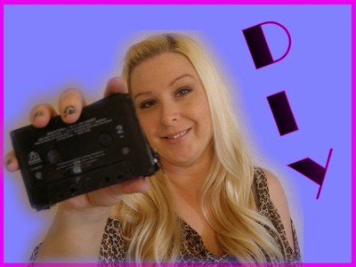 DIY Accessories - How To Make A Cassette Tape Wallet Coin Purse