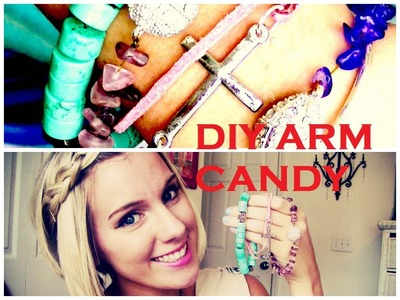 DIY Arm Candy Bracelets (Fun Summer DIY Collab with Megan Costello)