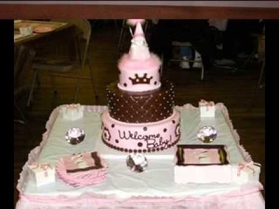 DIY baby shower cake decorations ideas for a girl