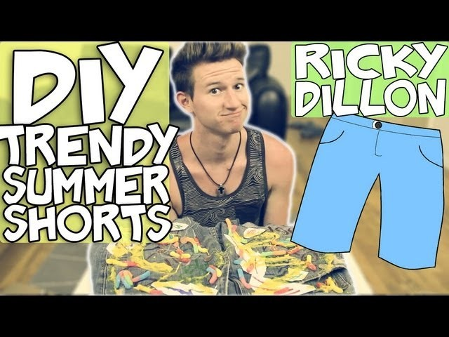 DIY: BEDAZZLED TRENDY SUMMER SHORTS | RICKY DILLON