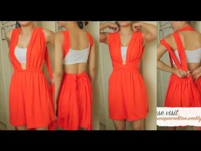 DIY| Convertible dress sewing method 2