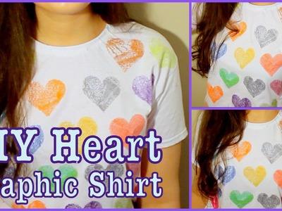DIY: Graphic Heart T-Shirt!
