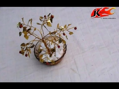 DIY How to make Wire Tree from GOLDEN LEAVES - JK Arts 012