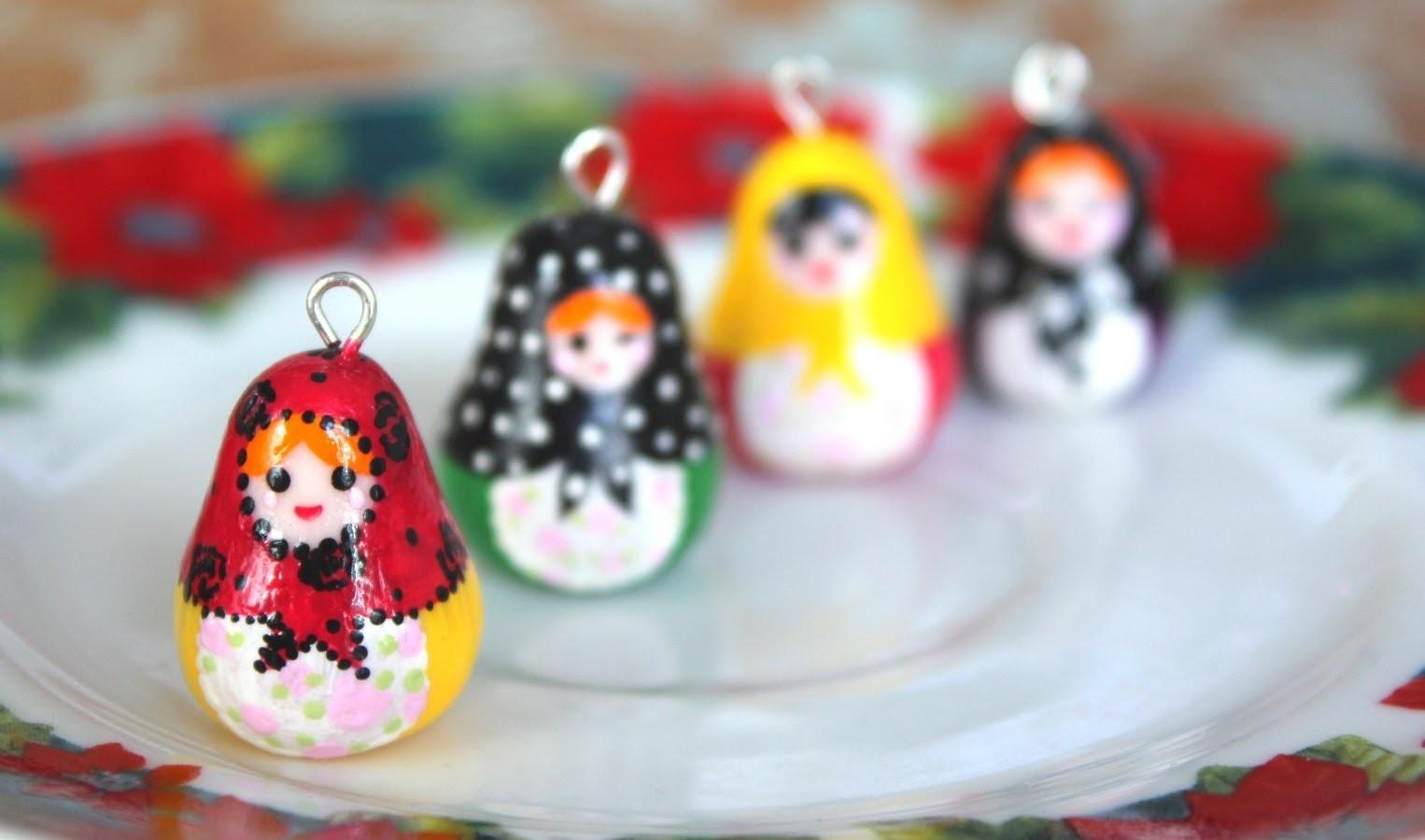 DIY: Matryoshka {Nesting} Doll. Polymer Clay Charm Tutorial