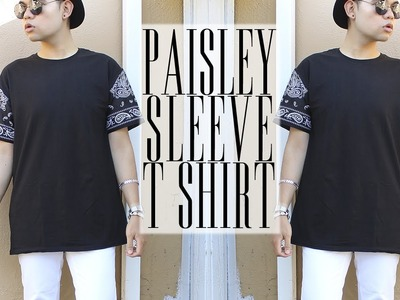 DIY: Paisley Sleeve T-Shirt