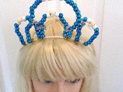 DIY Princess Crown Tiara - Beaded Crown - Halloween - Fairy Princess - Costumes,