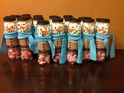 DIY Snowman Baby Food Jars