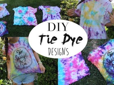 DIY Tie Dye Designs: ☺︎and ☯ !