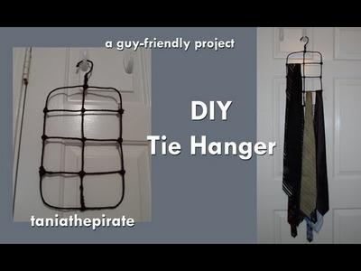 DIY Tie Hanger.Holder