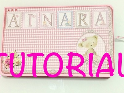 DIY tutorial mini album baby idea para regalar manualidad facil, rapida y barata