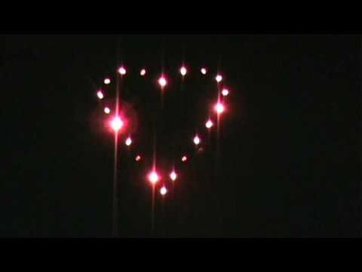 DIY Twinkling LED Heart for Valentine's Day