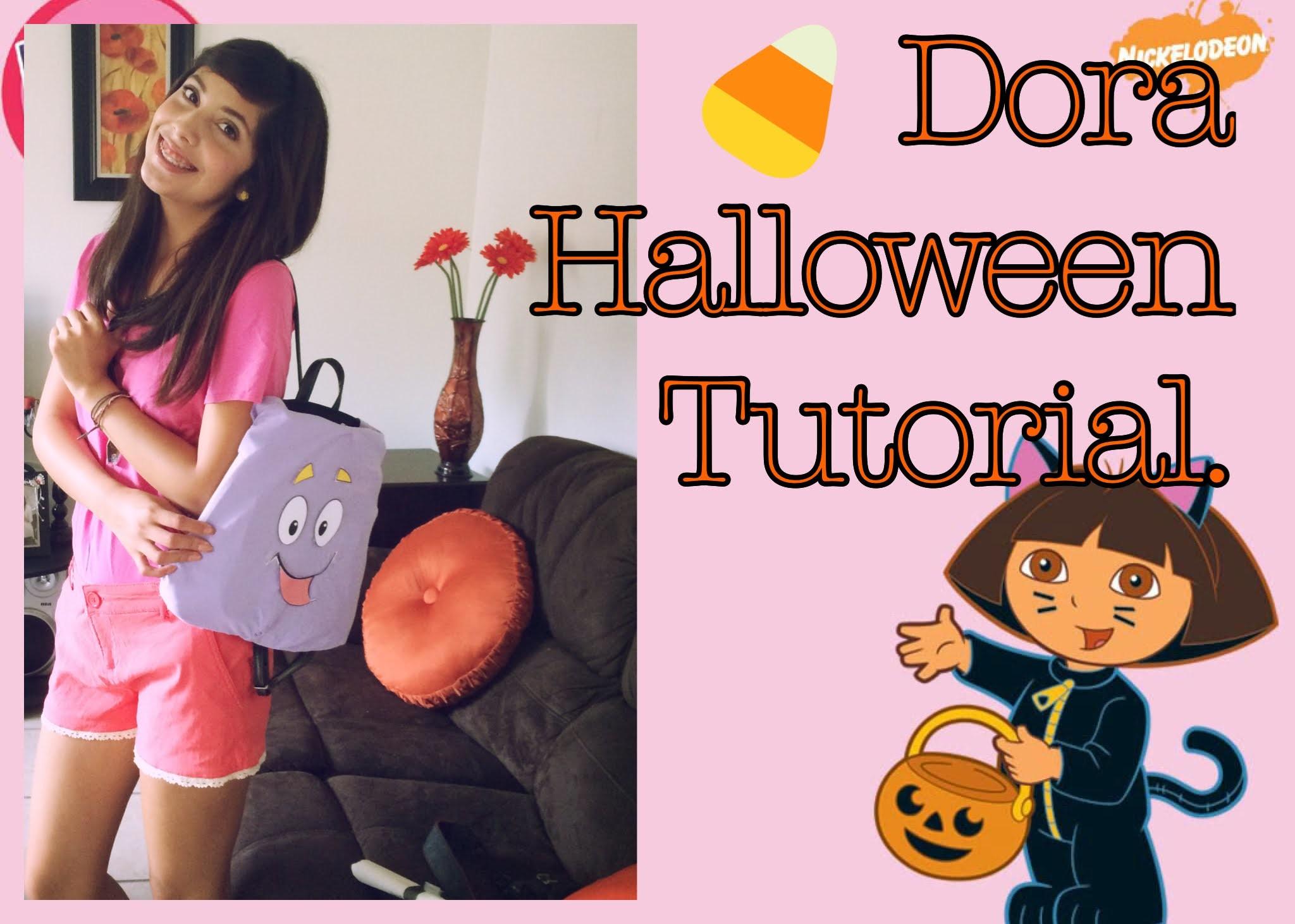 Dora the Explorer Halloween Tutorial (+DIY Dora Backpack & Map)