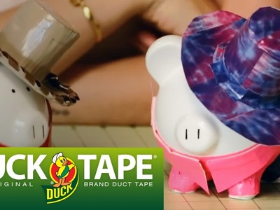 Duck Tape Crafts: How to Make a Cowboy Piggy Bank