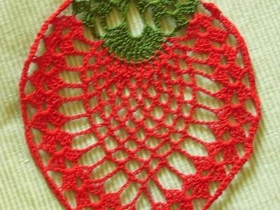 Erdbeere häkeln strawberry crochet*Tablecloth crochet*Teil 1*Tutorial Handarbeit