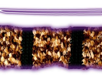 Fancy tube scarf lefty crochet tutorial
