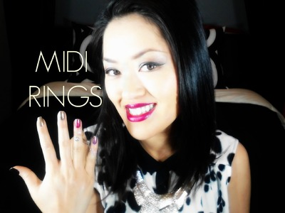 Fashion DIY: Midi Ring Tutorial