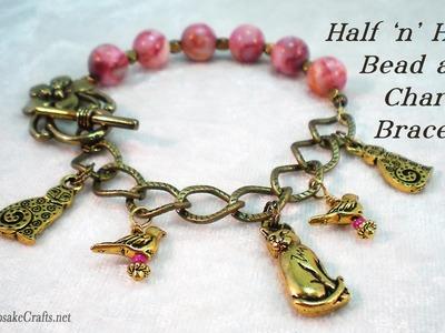 Half Bead Half Charm Bracelet Tutorial