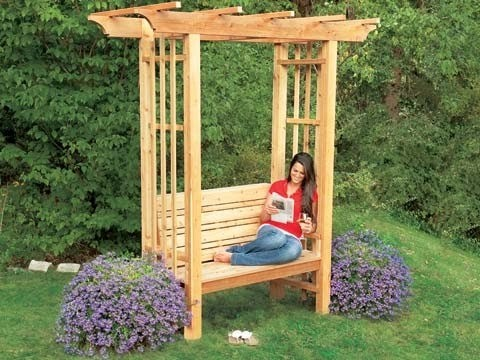 How to Build an Arbor Bench - This Old House