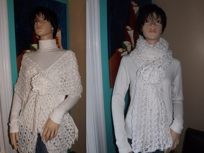 How To Crochet A Hairpin Lace Shawl Or Scarf.