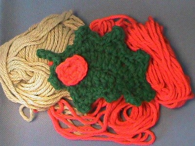 """How to Crochet """"Christmas Holly"""""""