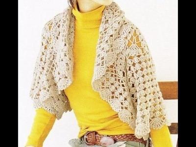 How to crochet shrug free pattern