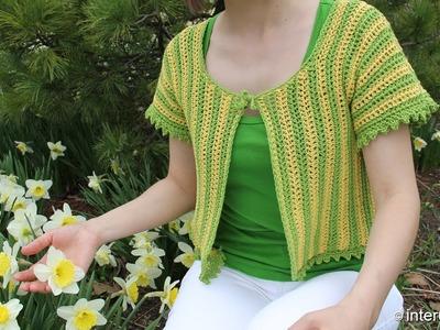 How to crochet women's short sleeve summer top - two colors crochet pattern