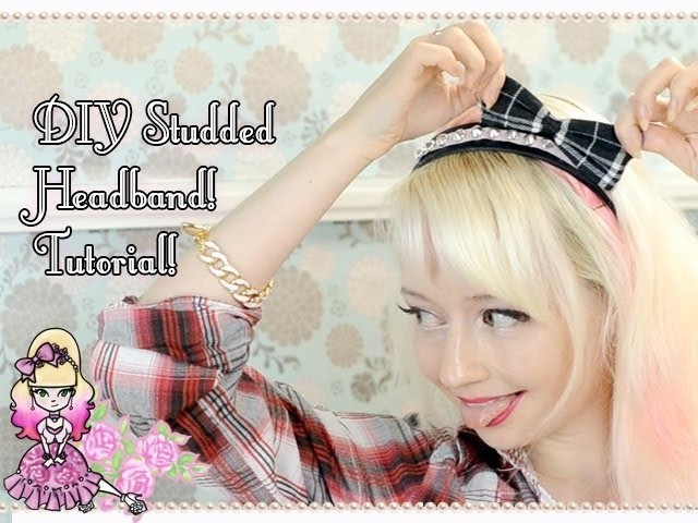 How To Make A Cute Studded Headband DIY Tutorial - Violet LeBeaux