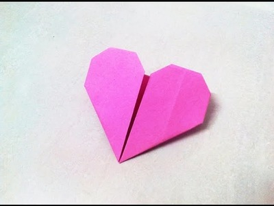 How to make an origami paper heart | Origami. Paper Folding Craft, Videos and Tutorials.