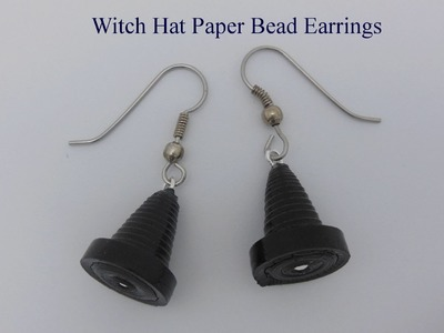 How to Make Paper Bead Witch Hat Earrings