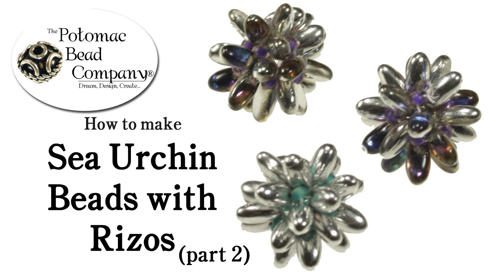 How to Make Sea Urchin Beads with Czech Rizo Beads part 2)