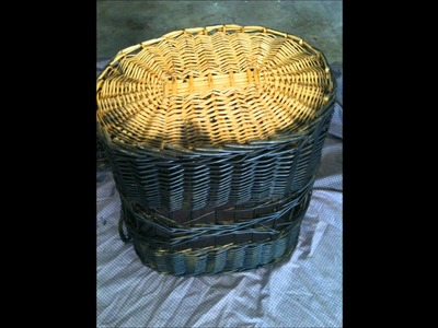 How To Paint Wicker Basket