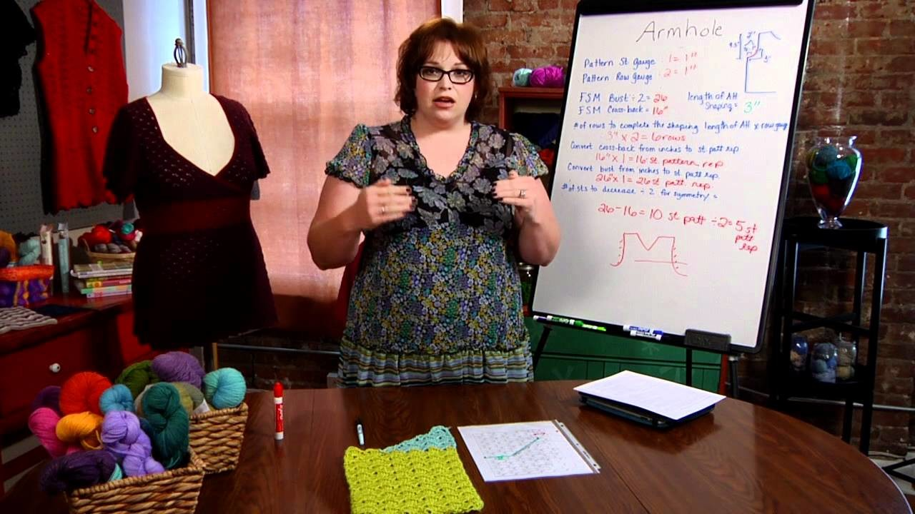 How To Plan and Construct Depth of Armholes for Crocheted Sweaters