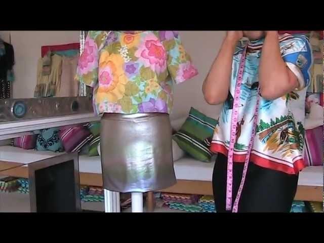 How to sew easy mini skirt - DIY