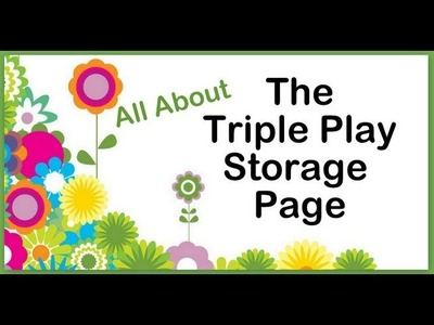 Introducing The Triple Play Storage Page, by The ScrapRack