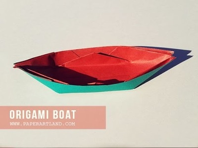 Let's Make an Origami Boat ( Traditional )