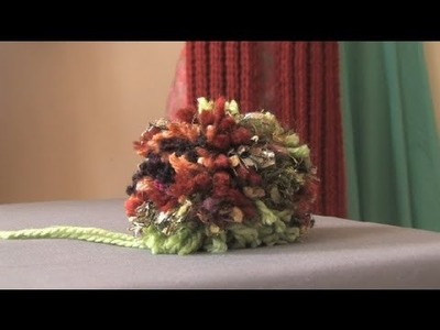Making a Pom-Pom With Multiple Yarns : Crochet Projects