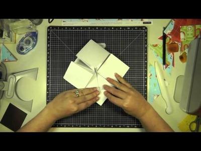 Napkin Fold Card Tutorial - Part a