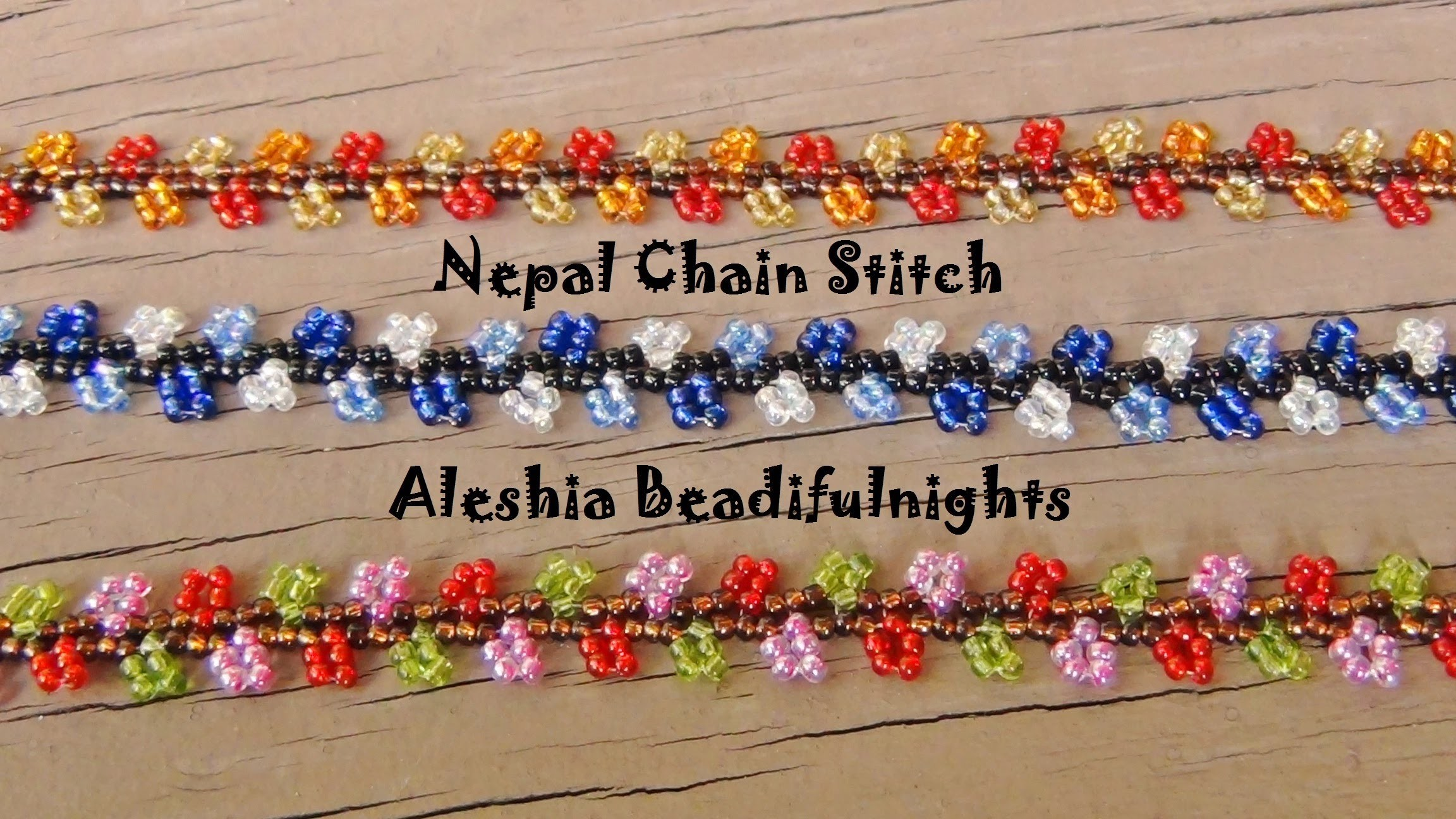 Nepal Chain Stitch Beaded Bracelet and Anklet Tutorial