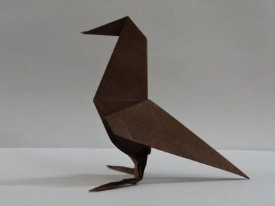 Origami Bird Tutorial - How to fold a Paper Raven (Crow)