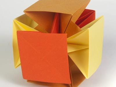 Origami - How to fold a Pointless Cube