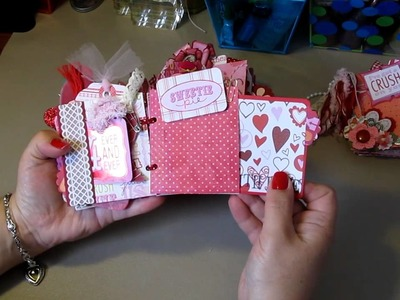 Paper Bag Scrapbook albums 3 New Valentine's Day ~ from The Scrappy Bookworm