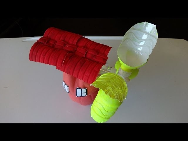 Plastic Soda Bottle Crafts: Making a Water Mill