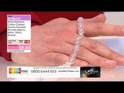 Rainbow Moonstone Beads for Jewellery Making - JewelleryMaker Late LIVE 01.04.2014